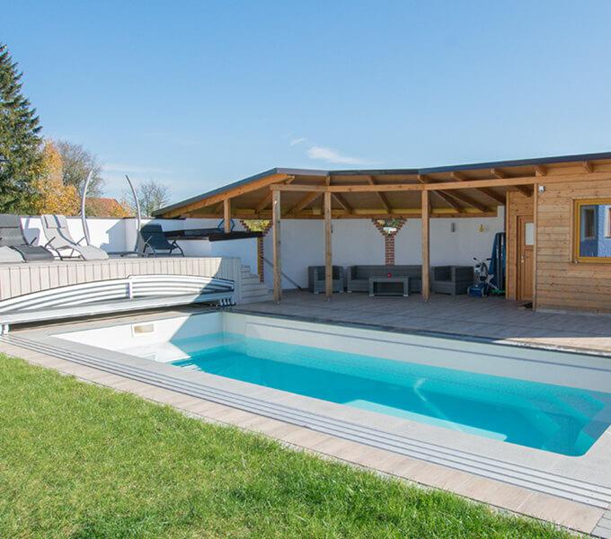 venkovní zahradní bazén s filtrací